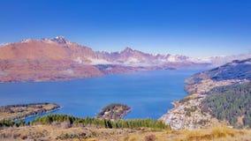 昆斯敦小山,奥塔哥地区,新西兰 免版税库存照片