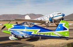 昆斯敦,南非- 2017年6月17日:范` s航空器RV7和 免版税库存照片