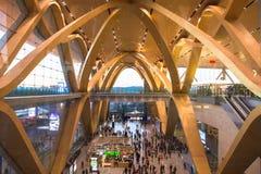 昆明国际机场长的水 免版税库存照片