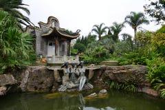 昆明,中国:Horti商展公园的广东庭院 库存照片