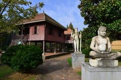 昆明,中国:Horti商展公园的柬埔寨庭院 免版税库存照片