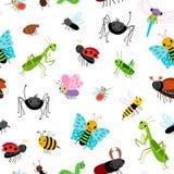 昆虫五颜六色的样式 皇族释放例证