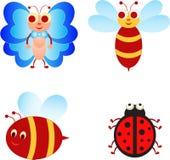 昆虫例证,昆虫动画片 免版税库存图片