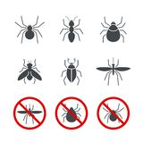 昆虫简单的传染媒介象设置了2 库存图片
