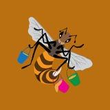 昆虫蜂例证 免版税库存照片