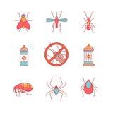 昆虫防治,反虫象征,杀虫药 免版税库存图片