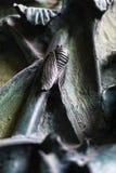 昆虫,花,哺乳动物鸟的元素在老入口门的对圣洁家庭的寺庙 图库摄影