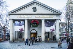 昆西市场在波士顿, MA 库存图片