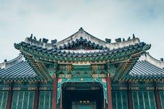 昌德宫宫殿美好的传统建筑学在汉城,韩国 免版税库存图片