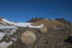 昌普岛石头,弗朗兹约瑟夫土地 图库摄影
