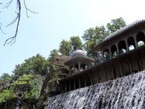 昌迪加尔,印度假山花园  免版税库存照片