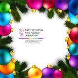 明亮和五颜六色的寒假背景 免版税库存照片