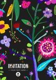 明亮和五颜六色的花卉背景 库存照片