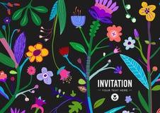 明亮和五颜六色的花卉背景 免版税库存照片