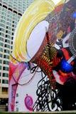 明亮和五颜六色的街道艺术,波士顿,大量, 2014年10月的例子 免版税库存图片