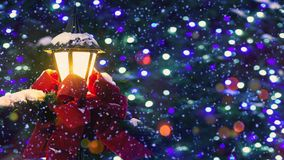 明亮和光亮的奥秘圣诞节背景 库存例证