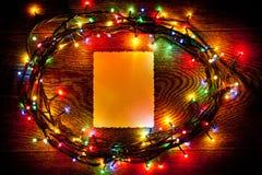 明亮和美丽,电圣诞节诗歌选和板料  免版税库存照片