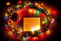 明亮和美丽,电圣诞节诗歌选和板料  免版税图库摄影