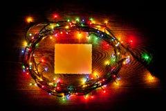 明亮和美丽,电圣诞节诗歌选和纸片 免版税图库摄影