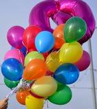明亮地色的气球 图库摄影
