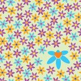 明亮地色的花背景  库存照片