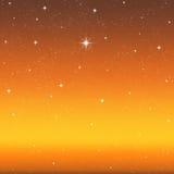 明亮夜空星形想 库存照片