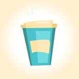 明亮的一次性咖啡杯 免版税库存照片