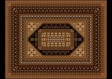 明亮的与米黄和棕色树荫的葡萄酒东方地毯 库存图片