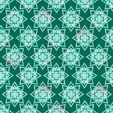 明亮的五颜六色坛场花几何形状摘要的难看的东西飞溅纹理,在黑暗的绿松石的水彩无缝的样式 向量例证