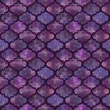 明亮的五颜六色瓦片卷曲东部几何形状摘要的难看的东西飞溅纹理,在黑暗的水彩无缝的样式设计 免版税库存图片