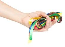 明亮的五颜六色的丝带 库存图片