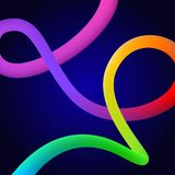 明亮的五颜六色的古怪的液体混合梯度流程可变的形状漩涡 皇族释放例证