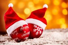 明亮的五颜六色的圣诞节装饰背景 免版税库存图片