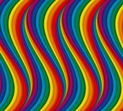 明亮的五颜六色的彩虹背景 库存照片