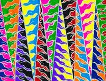明亮的五颜六色的手拉的Z形图案 库存照片