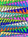 明亮的五颜六色的手拉的Z形图案 免版税库存照片