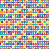 明亮的五颜六色的无缝的样式 向量 免版税库存照片