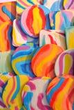 明亮的五颜六色的棒棒糖 库存图片