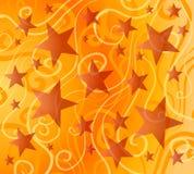 明亮的五颜六色的模式星形 库存例证