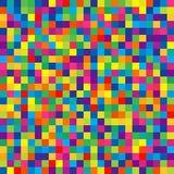 明亮的五颜六色的正方形的无缝的样式孩子的Wrappin 库存图片