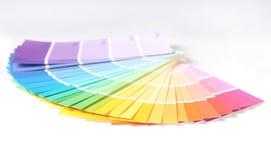 明亮的五颜六色的油漆remodelin抽样样片 免版税库存照片