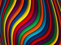 明亮的五颜六色的波浪背景 库存照片