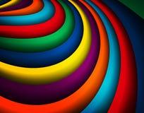 明亮的五颜六色的波浪背景 库存图片