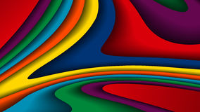 明亮的五颜六色的波浪背景 库存例证