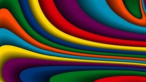 明亮的五颜六色的波浪背景 免版税库存图片