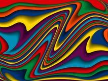 明亮的五颜六色的波浪背景 图库摄影