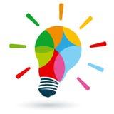 明亮的五颜六色的电灯泡 库存图片