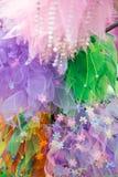 明亮的五颜六色的薄纱织品 免版税库存照片