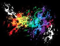 明亮的五颜六色的设计墨水splat 库存照片