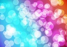 明亮的五颜六色的bokeh背景 免版税库存照片